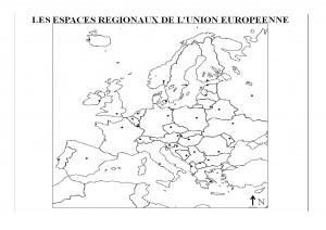 CARTE - LES ESPACES REGIONAUX DE L'UNION EUROPEENNE