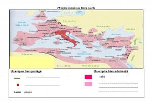 Carte de l'empire romain au 2ème siècle